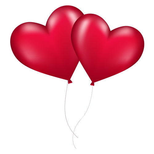 Heart Balloons PNG image
