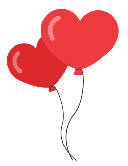 Heart Shaped Balloons PNG image