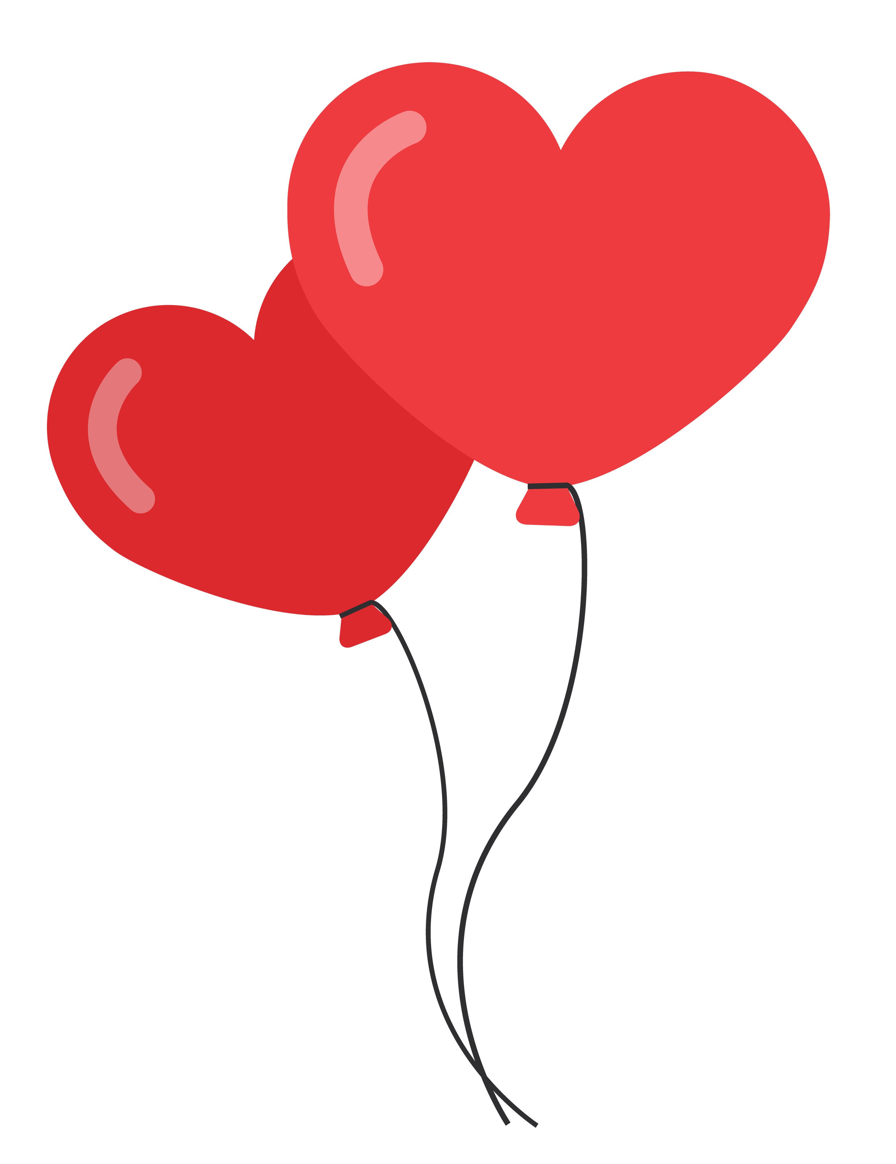 Heart Shaped Balloons PNG image - PngPix