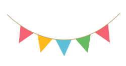 Party Streamer Decoration PNG image