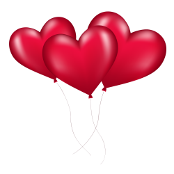 Red Heart Balloon PNG image