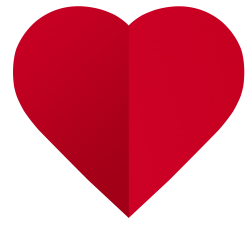 Red Paper Heart PNG Image