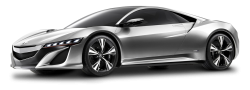 Acura NSX Gray Car PNG Image