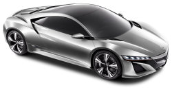 Acura NSX Silver Car PNG Image