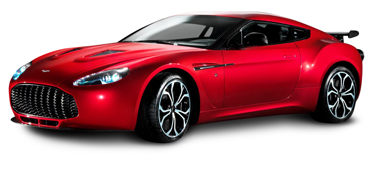Aston Martin V12 Zagato Red Sports Car PNG Image - PngPix