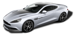 Aston Martin Vanquish CE Silver Car PNG Image