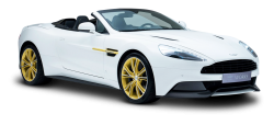 Aston Martin White Car PNG Image