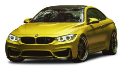 Austin Yellow BMW M4 Car PNG Image