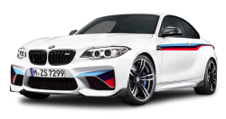 BMW M2 Coupe White Car PNG Image