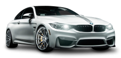 BMW M4 Evo Aero White Car PNG Image