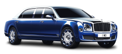 Bentley Mulsanne Grand Limousine Blue Car PNG Image