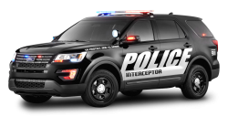 Black Ford Police Interceptor Car PNG Image