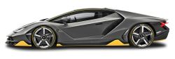 Black Lamborghini Centenario LP 770 4 Side View Car PNG Image