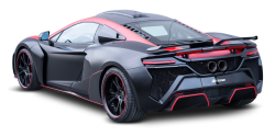 Black McLaren 650S Car Back PNG Image