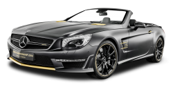 Black Mercedes AMG SL63 Car PNG Image