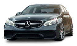 Black Mercedes Benz E63 AMG Car PNG Image