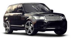 Black Range Rover Piano Car PNG Image