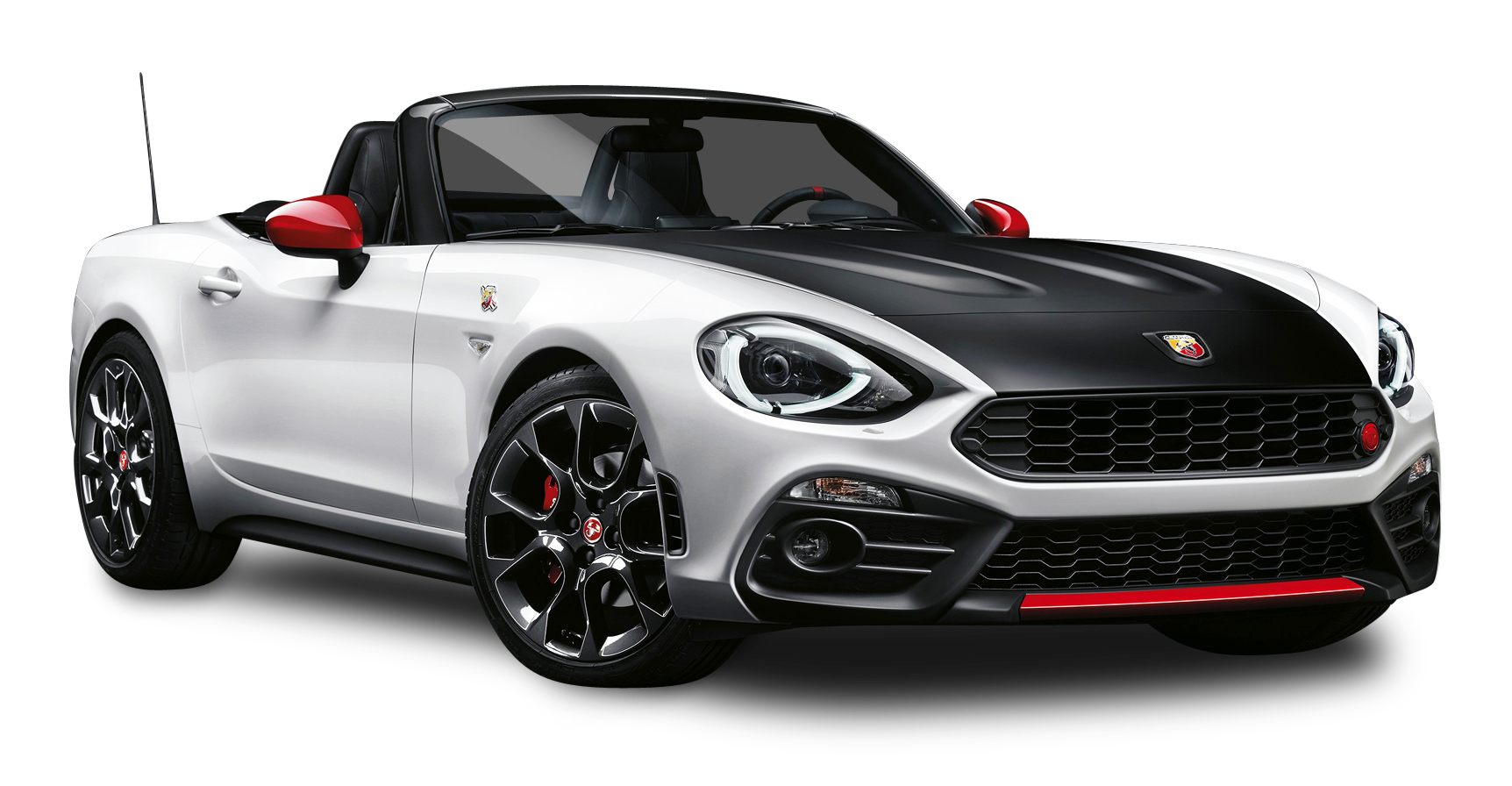 Black And White Fiat 124 Spider Abarth Car Png Image Pngpix