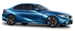 Blue BMW M2 Car PNG Image