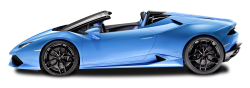 Blue Lamborghini Huracan LP 610 4 Spyder Side View Car PNG Image