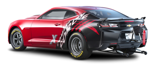 Chevrolet Copo Camaro Red Car Back PNG Image