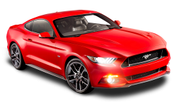 Ford Mustang Red Car PNG Image