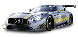 Gray Mercedes Benz Race Car PNG Image