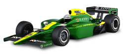 Green Lotus Cosworth Racing Car PNG Image