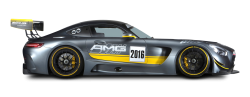 Grey Mercedes AMG GT3 Racing Car PNG Image