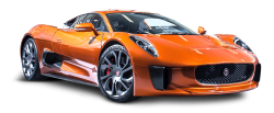 Jaguar C X75 James Bond Orange Car PNG Image