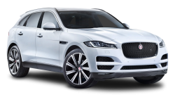 Jaguar F PACE White Car PNG Image