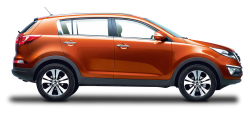 Kia Sportage Orange Car PNG Image