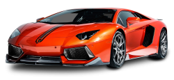Lamborghini Aventador Coupe Red Car PNG Image