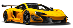 McLaren 650S GT3 Yellow Race Car PNG Image