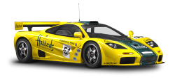McLaren P1 GTR Yellow Sports Car PNG Image