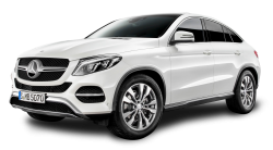 Mercedes Benz GLE Coupe White Car PNG Image