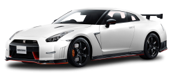 Nissan GT R NISMO White Car PNG Image