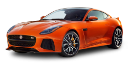 Orange Jaguar F Type SVR Coupe Car PNG Image