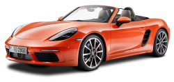 Porsche 718 Boxster S Orange Car PNG Image