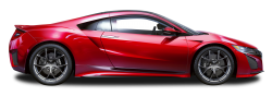 Red Acura NSX Car PNG Image