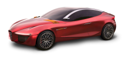 Red Alfa Romeo Gloria Car PNG Image