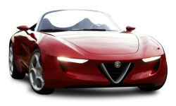 Red Alfa Romeo Super Car PNG Image