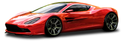 Red Aston Martin DBC Car PNG Image