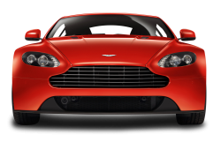 Red Aston Marti -V8 Vantage Front View Car PNG Image