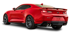 Red Chevrolet Camaro ZL1 Back Side Car PNG Image