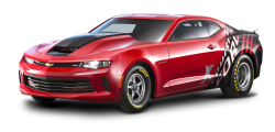 Red Chevrolet Copo Camaro Car PNG Image