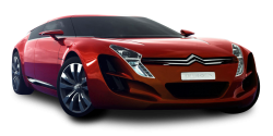 Red Citroen C Metisse Car PNG Image