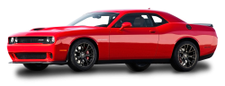 Red Dodge Challenger Car PNG Image