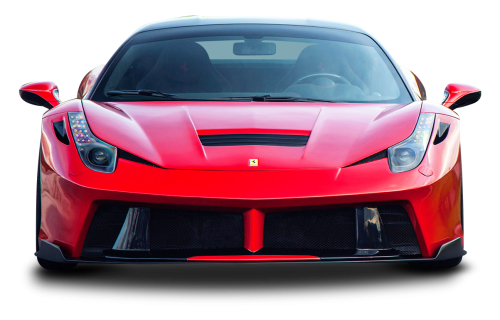 Red Ferrari 458 Italia Sports Car PNG Image