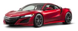 Red Honda NSX Car PNG Image